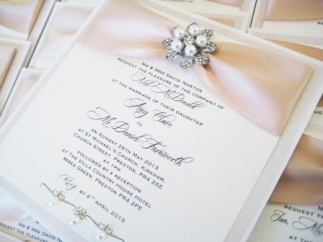 Amy Pearl Collection - wedding invitations with pearls