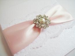 Lace luxury wedding invitation