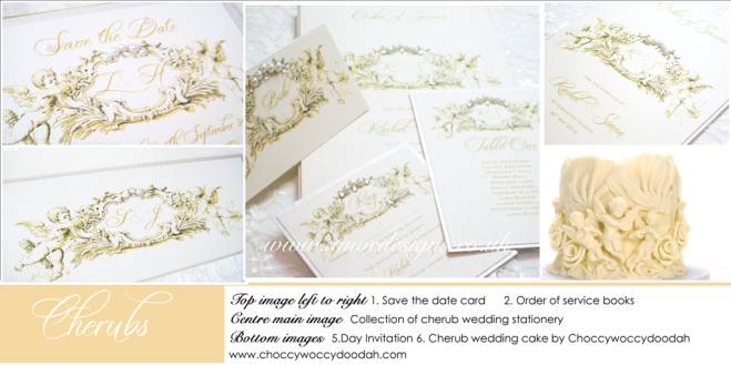 Cherub wedding invitations