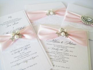 Luxury pale pink invitations