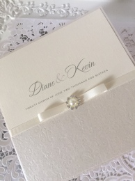 traditional ivory wedding invitations