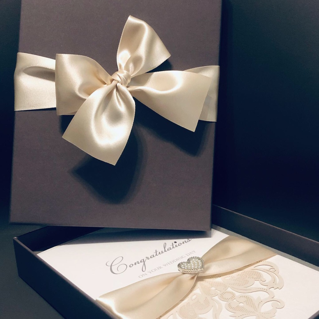 Boxed congratulations on your wedding day card